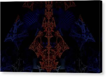 Evil Lurks In The Darkness Canvas Print by Ricky Jarnagin