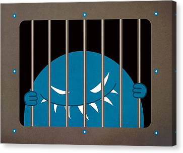 Evil Monster Kingpin Jailed Canvas Print