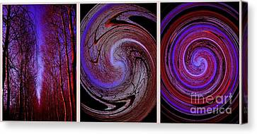Evolution De La Foret En Spirale Canvas Print