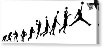 Evolution Human To Michael Jordan Canvas Print by Jarvis Chau