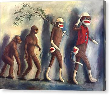 Canvas Print featuring the painting Evolution by Randol Burns
