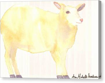 Ewe's Not Fat Ewe's Fluffy Canvas Print by Ann Michelle Swadener