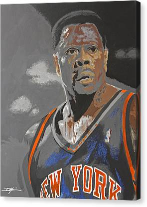 Patrick Ewing Canvas Print - Ewing by Don Medina