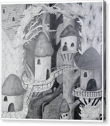 Tiki Canvas Print - Ewok Village by Sean Goldsmith