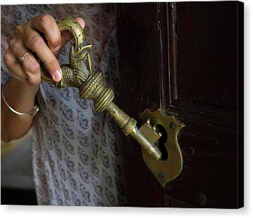 Example Of Large Centuries Old Key Canvas Print