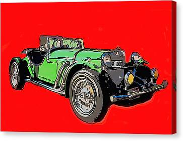 Excalibur Car  Canvas Print by Tommytechno Sweden