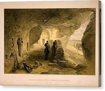 Excavated Church In The Caverns At Inkermann Canvas Print by Litz Collection