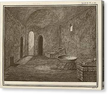 Excavated Room At Pompeii Canvas Print