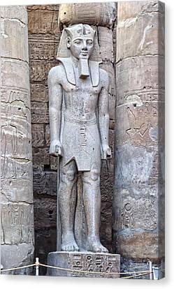 Pharaoh Canvas Print - Excellant Standing Pharaoh Sculpture by Linda Phelps