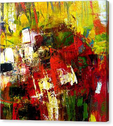 Canvas Print featuring the painting Excited by Katie Black