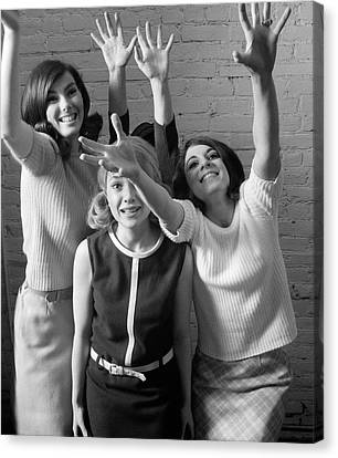 Excited Teenage Girls, C.1960-70s Canvas Print by H. Armstrong Roberts/ClassicStock