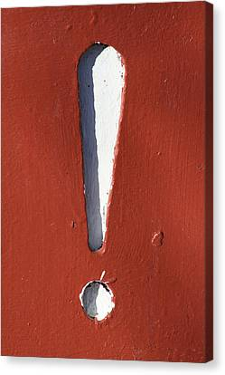 Exclamation Point Canvas Print