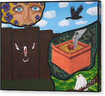 Excruciating Victory Canvas Print by Vicki Maheu