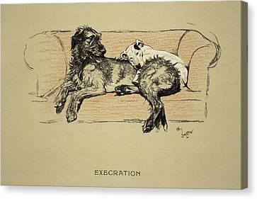 Black Top Canvas Print - Execration, 1930, 1st Edition by Cecil Charles Windsor Aldin