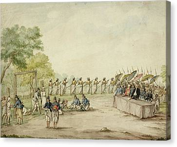 Execution And Mutilation Of Criminals Canvas Print by British Library