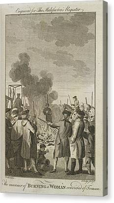 Punishment Canvas Print - Execution By Burning by British Library