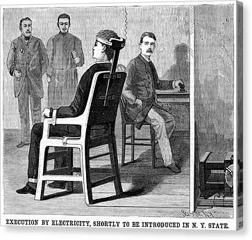 Execution By Electric Chair Canvas Print by Universal History Archive/uig