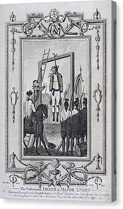 Execution Of Major Andre Canvas Print by British Library
