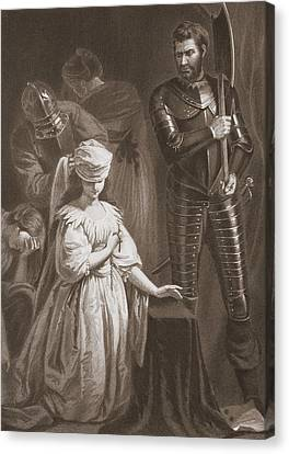 Ladies In Waiting Canvas Print - Execution Of Mary Queen Of Scots by John Opie