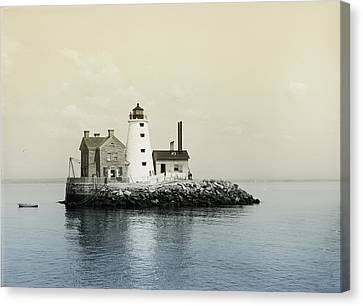 Execution Rocks Lighthouse New York  Canvas Print by Bill Cannon