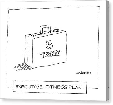 'executive Fitness Plan' Canvas Print by Mick Stevens