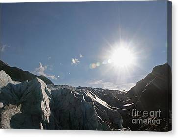 Exit Glacier Canvas Print by Russell Christie
