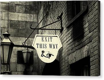 Exit This Way Canvas Print by Laurie Perry
