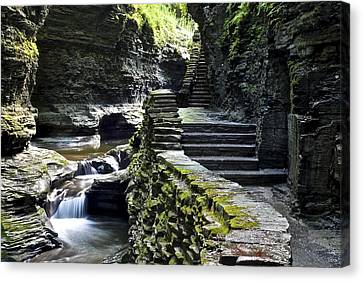 Exiting Watkins Glen Gorge Canvas Print by Frozen in Time Fine Art Photography