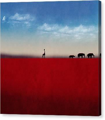 Canvas Print featuring the digital art Exodus by Andy Walsh
