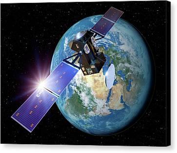 Exomars Orbiter Leaving Earth Canvas Print