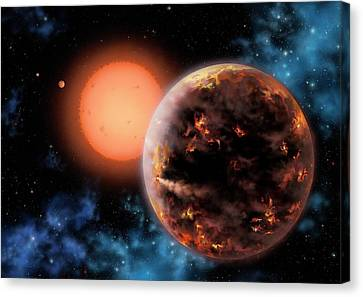 Exoplanet Gliese 876 D Canvas Print by Lynette Cook