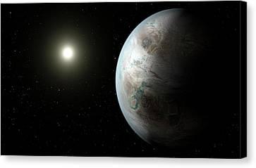Exoplanet Kepler-452b Canvas Print by Nasa/ames/jpl-caltech