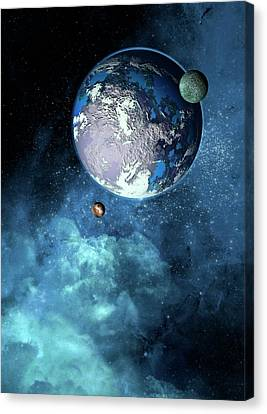 Exoplanet Canvas Print by Victor Habbick Visions
