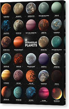 Exoplanets Canvas Print by Taylan Apukovska