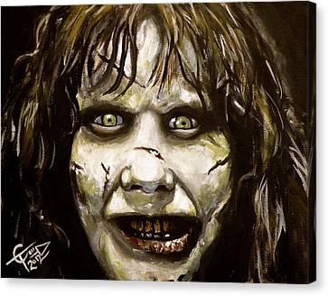 Exorcist Canvas Print by Tom Carlton