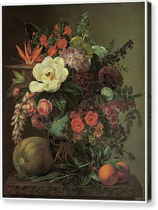 Exotic Bloom In A Grecian Urn Canvas Print