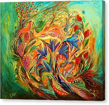 Exotic Flowers Canvas Print by Elena Kotliarker