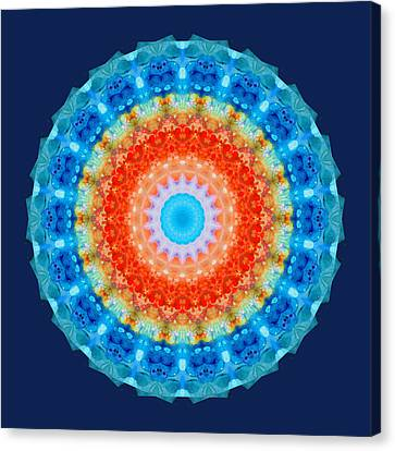 Third Eye Canvas Print - Expanding Energy 1 - Mandala Art By Sharon Cummings by Sharon Cummings