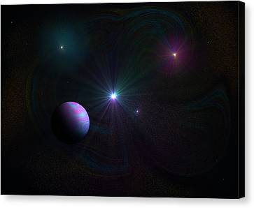 Expanding Universe Canvas Print by Ricky Haug