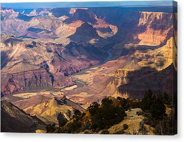 Expanse At Desert View Canvas Print by Ed Gleichman