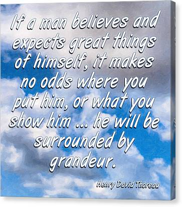 Expect Great Things - Thoreau Canvas Print