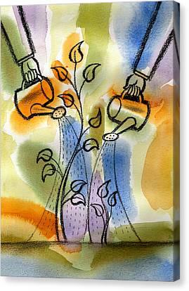 Expectation Canvas Print by Leon Zernitsky