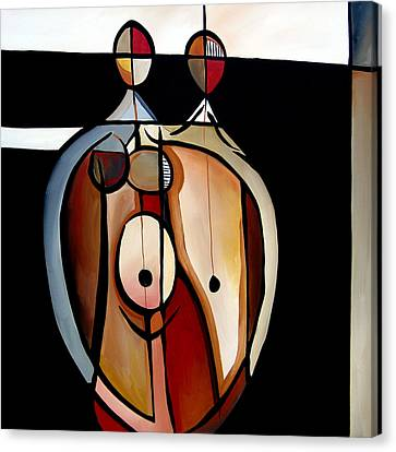 Abstract Art On Canvas Print - Expecting By Fidostudio by Tom Fedro - Fidostudio