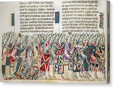Xerxes Canvas Print - Expedition Of Xerxes by British Library