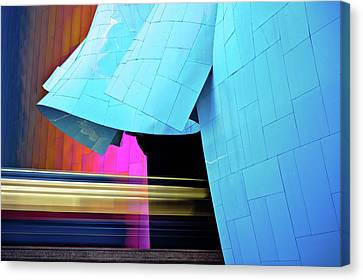 Monorail Canvas Print - Experience Music Project by Jill Maguire