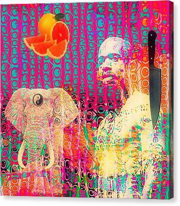 Experimental Digital Collage Canvas Print by John  De Sousa