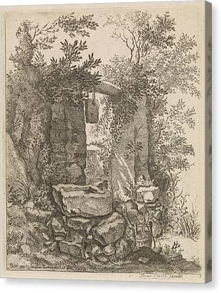 Expired Stone Gate In A Landscape, Jacob Lutma Canvas Print by Jacob Lutma And Frans Carelse