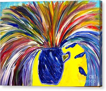Exploding Breakthrough  Canvas Print by Stephanie Wogoman