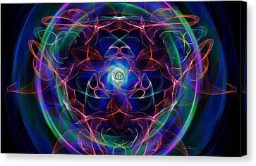 Exploding Gaseous Globes Canvas Print