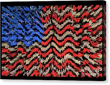 Exploding With Patriotism Canvas Print by John Farnan